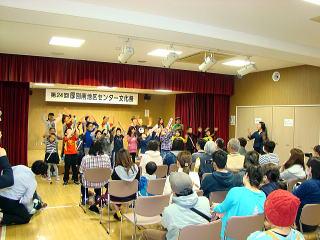 文化祭ステージ発表上野幌小学校写真