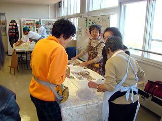 文化祭ケーキ販売写真