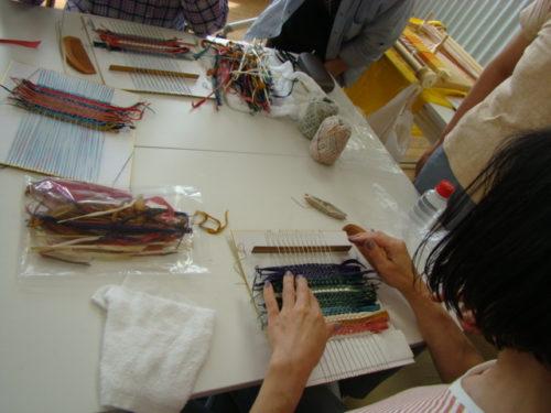 写真:さき織りサークル体験風景3