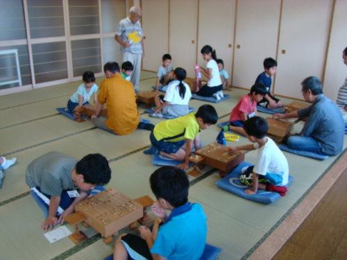 写真:夏の子ども将棋教室風景1