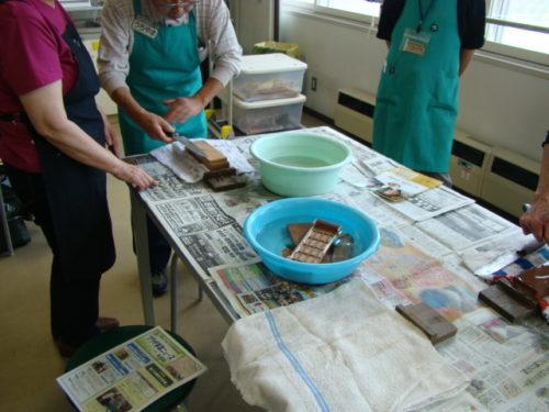 写真:包丁の研ぎ方風景3
