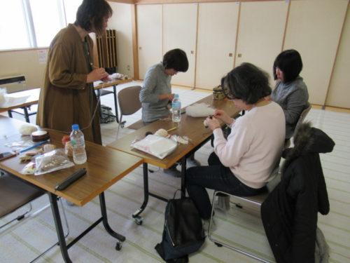 写真:あみぐるみ講座風景3
